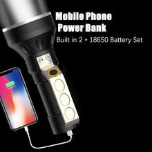 With Built in 2 * 18650 Battery Set USB Rechargeable XLM T6 LED Flashlight Portable lanterns Flashlight hunting Torch