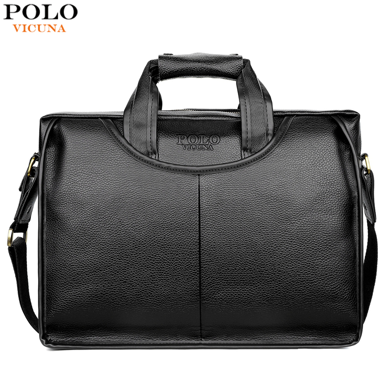 VICUNA POLO Classic Design Large Size Leather Briefcases Men Casual Business Man Bag Office Briefcase Bags Laptop Bag maletin