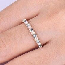 14K Rose Gold Diamond Women Ring Fashion Engagement Bizuteria Anillos De Wedding Gemstone Sparkling Cirle
