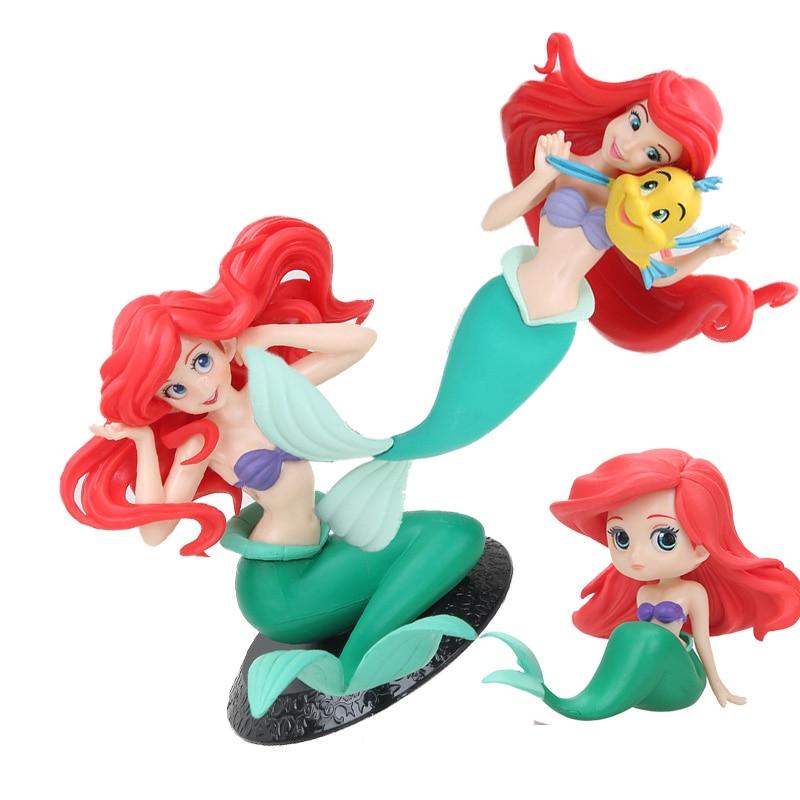 A Pequena Sereia Princesa Ariel Branca De Neve Figura Bonecas