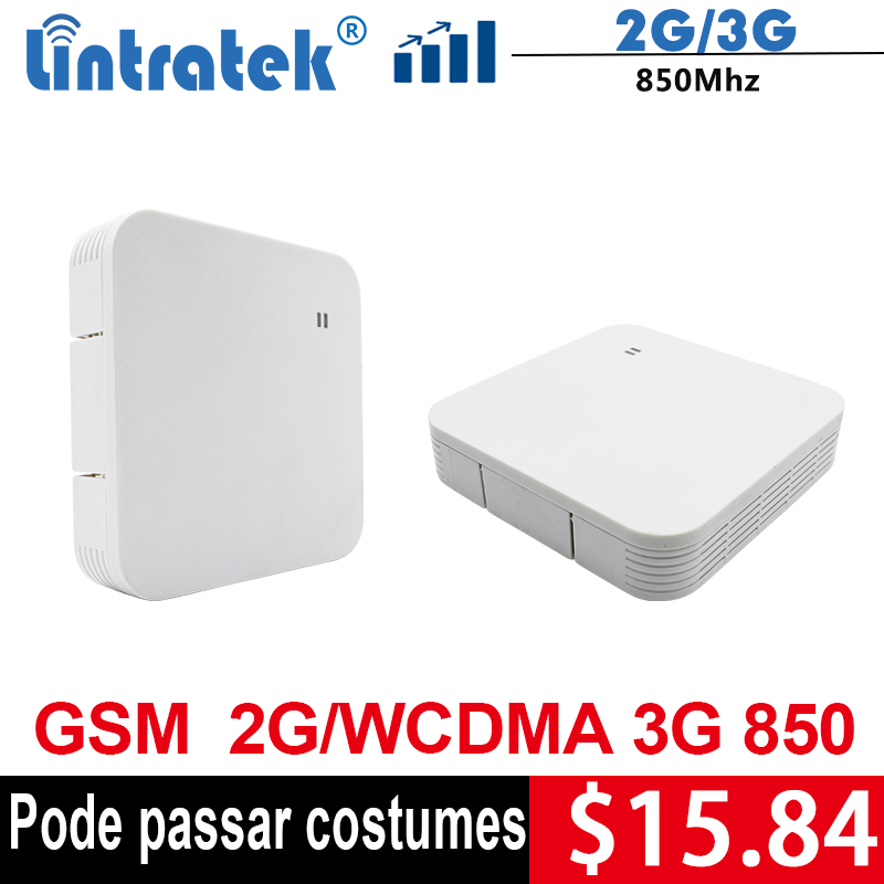 Lintratek Repeater 850Mhz 2G 3G Booster CDMA 850 GSM 850Mhz Repeater Mobile Phone Signal Amplifier 2G 3G Band 5 Mini Size @5
