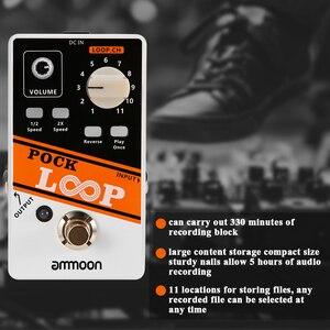 Image 5 - ammoon POCK LOOP Looper Guitar Effect Pedal 11 Loopers Max.330mins Recording Time guitar pedal guitar accessories guitar parts