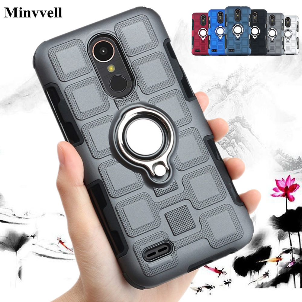for LG K10 Pro K11 K12 Plus K4 K8 2017 2018 Luxury Armor Case For LG K40 K4 K8 K11plus <font><b>K12plus</b></font> Shockproof Hard Back Cover Fundas image
