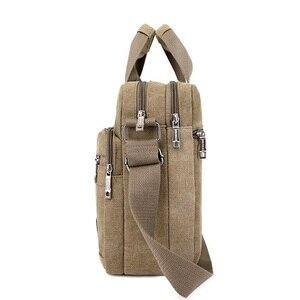 Image 4 - Men Shoulder Messenger Bags For Men Canvas Travel Bag Fashion Handbag high Quality Business Vintage Bag For Women