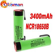 2020 original novo ncr18650b 3.7 v 3400mah 18650 baterias de folha de níquel de soldagem bateria recarregável de lítio ferramentas elétricas