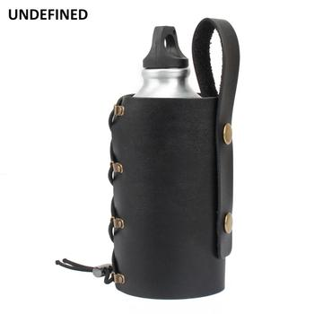 Motorcycle Bicycle Drink Holder Leather Water Bottle Cup Holder Support Stand Car-styling Outdoor Sports Cup Adapter Universal