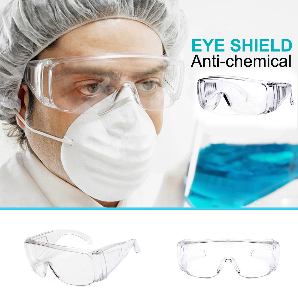 Saft Medical Goggles Dust Proof And Soundproof Transparent Protective Glasses Goggles For Chemical Research Cycling Riding