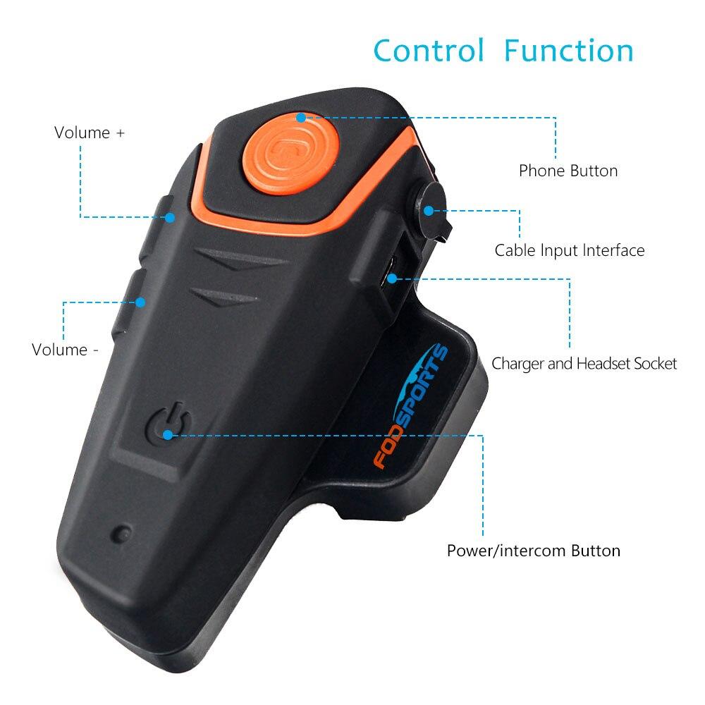 Image 5 - Fodsports BT S2 Pro Motorcycle Intercom Helmet Headset Wireless Bluetooth Waterproof Interphone Intercomunicador Moto FM-in Helmet Headsets from Automobiles & Motorcycles