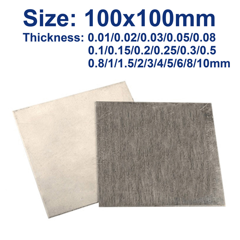 Pure Nickel 99.99% Plate Electrode Sacrificial Anode Plating Sheet Plate