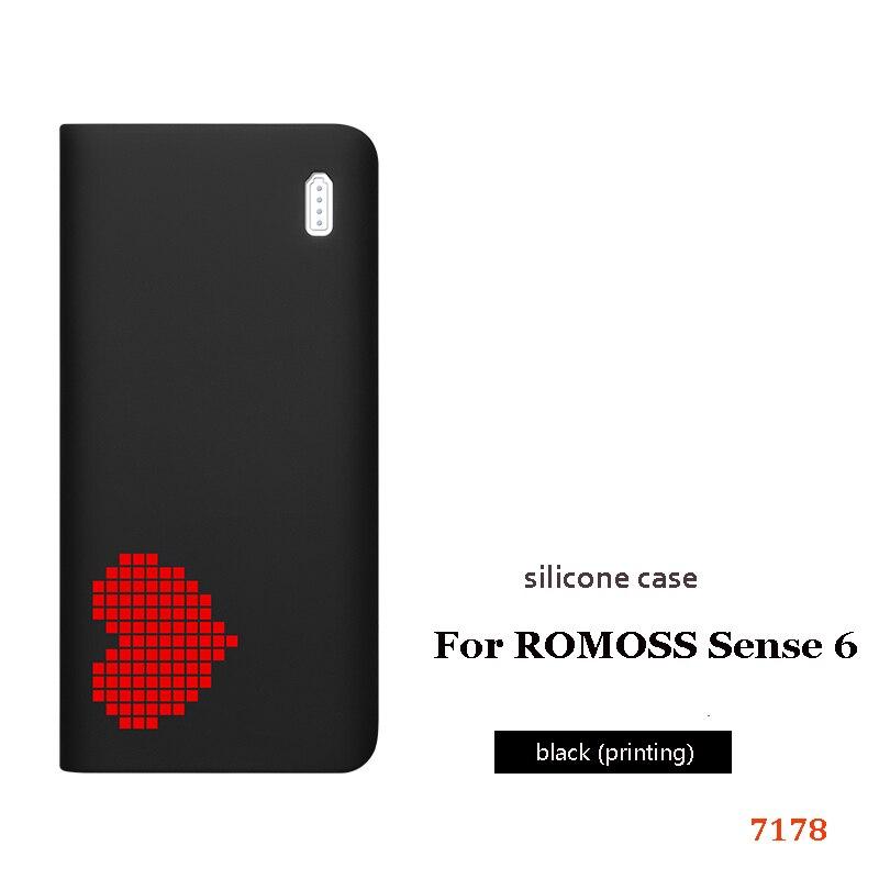 Силиконовый чехол для romoss sense 6, 20000 мА/ч, мобильный, мощный, мягкий, силиконовый, анти-столкновения, противоскользящий чехол, мобильный, мощный, кожаный чехол - Цвет: 6