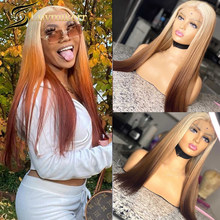 Blonde 613 Ombre Lace Front Wig Colored Bone Straight 13x6 Deep Part Hd Transparent Lace Frontal Wig Pre plucked For Women