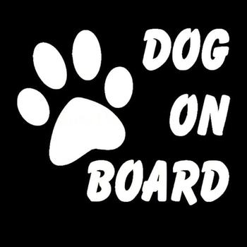Warning Signs Car Sticker Dog On Board Paw Cute Decal Reflective Decoration Car Body PET Stickers image