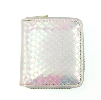 2019 free shipping Jack Girl Heart Fish Scale Zero Wallet Square Mini Wallet Zipper PU Small Wallet Zero Wallet