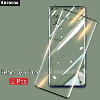 Перейти на Алиэкспресс и купить Auroras для OPPO Reno 3 Pro Защитная пленка для экрана 9D Полностью закаленное стекло изогнутый экран для Reno3 стекло
