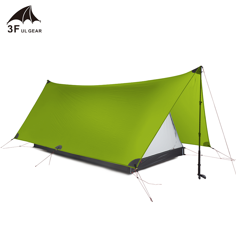 2019 3F UL GEAR Outdoor Ultraleicht Camping Zelt Shanjing 2 Person 3 Saison 20D Nylon Sowohl Seiten Silicon shelter tarp