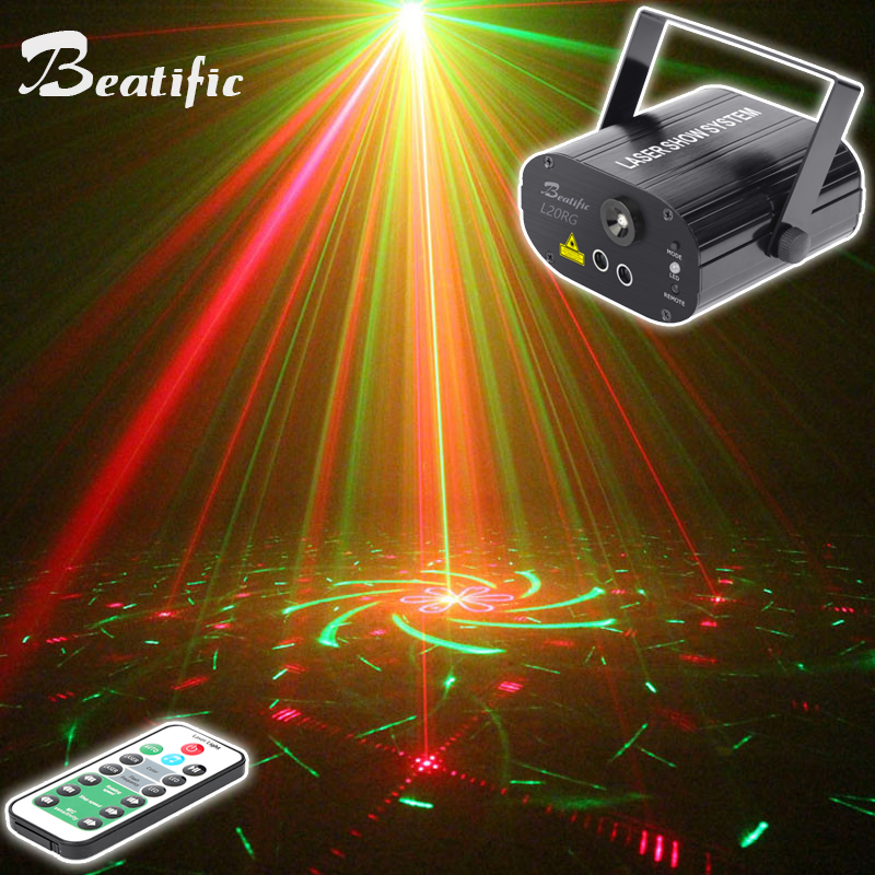 music center sound party lights Dance Laser Projector Show System for Home Disco Lumiere Color Light 20 Patterns With Strobe