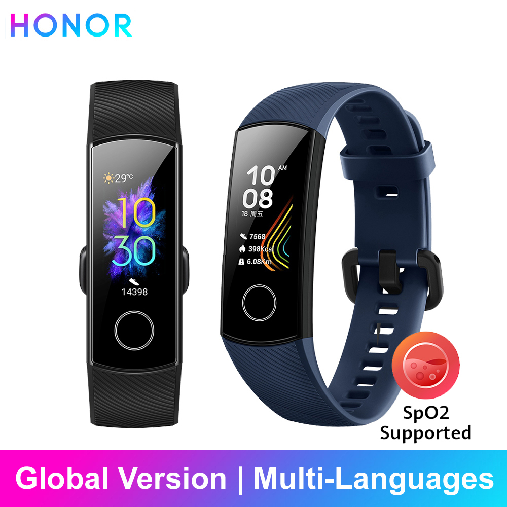 Honor Band 5 Smart Bracelet Global Version Band Waterproof Sports Health Wristband Blood Oxygen Fitness Sleep Tracker Smartband image
