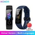 Honor band 5 pulseira inteligente versão global banda à prova dwaterproof água esportes saúde pulseira de oxigênio no sangue fitness sono rastreador smartband