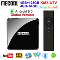 MECOOL KM3 ATV Androidtv Google Zertifiziert Android 9 0 TV Box 4GB 64GB 128GB Amlogic S905X2 4K 5G Dual Wifi BT 4 0 KM9 PRO 4G 32GB