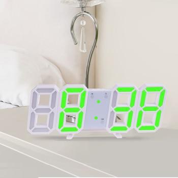 3D Large LED Digital Wall Clock Date Time Celsius Nightlight Display Table Desktop Clocks Alarm Clock From Living Room 12