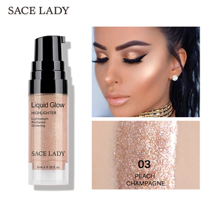 SACE LADY Face Highlighter Cream Liquid Illuminator Makeup Shimmer Make Up Facial Brighten Shine Highlighters Cosmetic Wholesale