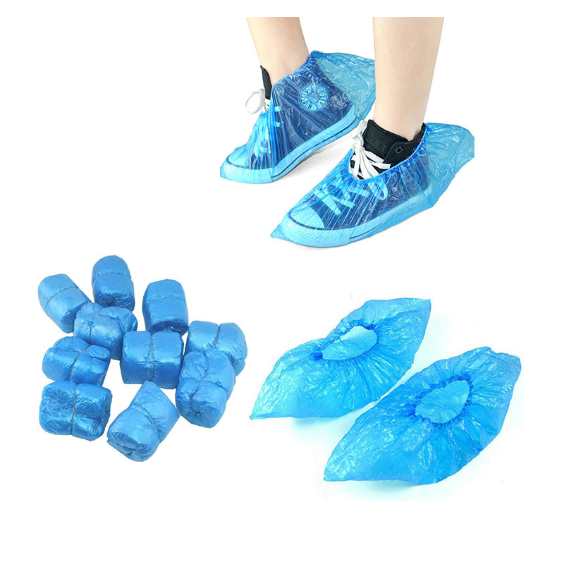 100 Pcs Medical Waterproof Boot Covers Disposable Plastic Shoes Covers Non-slip Indoor Homes Overshoes