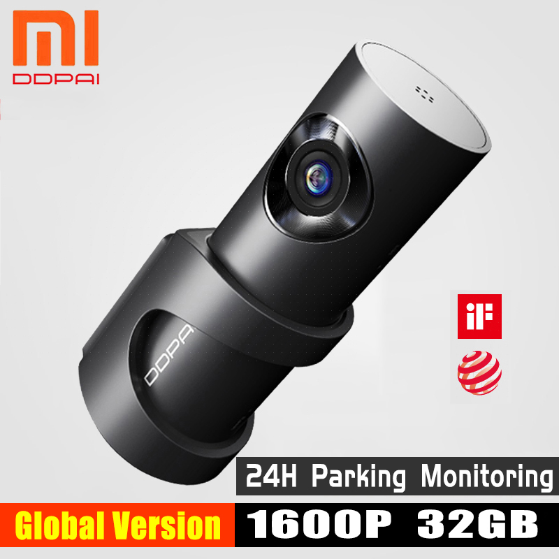 Xiaomi mijia ddpai mini3 ddpai traço cam câmera 32 gb inglês emmc 1600 p hd gravação 24 h monitor de estacionamento versão global