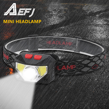 Mini Rechargeable XP-G2+COB LED Headlamp Body Motion Sensor Headlight Camping Flashlight red white Head Light Torch Lamp