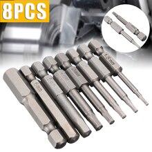 8Pcs Schraubendreher Bit Set 50mm H1.5-H8 1/4 ''Hex Schaft Magnetische Kopf Schraubendreher-bits Schraube Treiber Für Hand power Tools