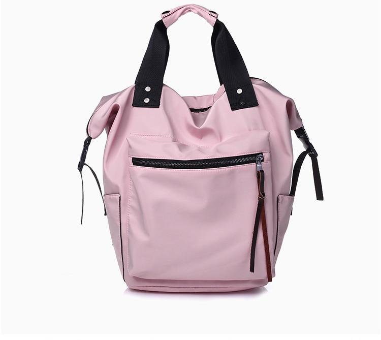 Ha14cdc70cd6641deb7efc1e123fb0a964 Casual Nylon Waterproof Backpack Women High Capacity Travel Book Bags for Teenage Girls Students Pink Satchel Mochila Bolsa 2019