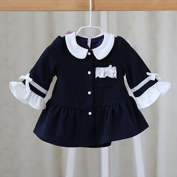 Wholesale 5pcs/lot baby spring coats 2020 peter pan collar flare sleeve newborn baby outerwear for toddler jacket clothing 0-2Y
