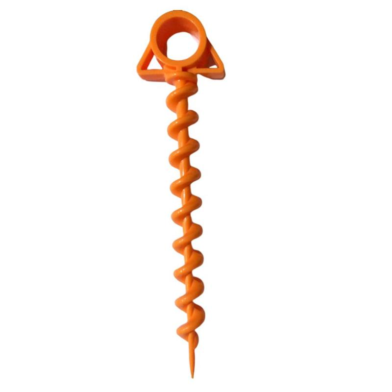 1PC Ultimate Ground Anchor Orange Screw spiral Sport accessories hiking camping tent peg Nails peg trip Tent Travel nail kit image