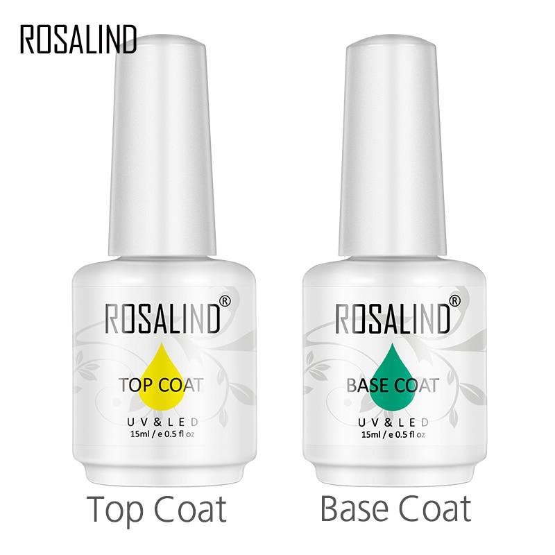 ROSALIND 15 мл базовое/топовое покрытие для ногтей, гель-праймер, матовое топовое покрытие, маникюрное украшение, цветение для творчества, дизайн...