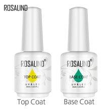 Rosalind 15ml base/superior casaco prego gel primer fosco superior casaco manicure decoração florescendo para diy arte do prego vernizes híbridos