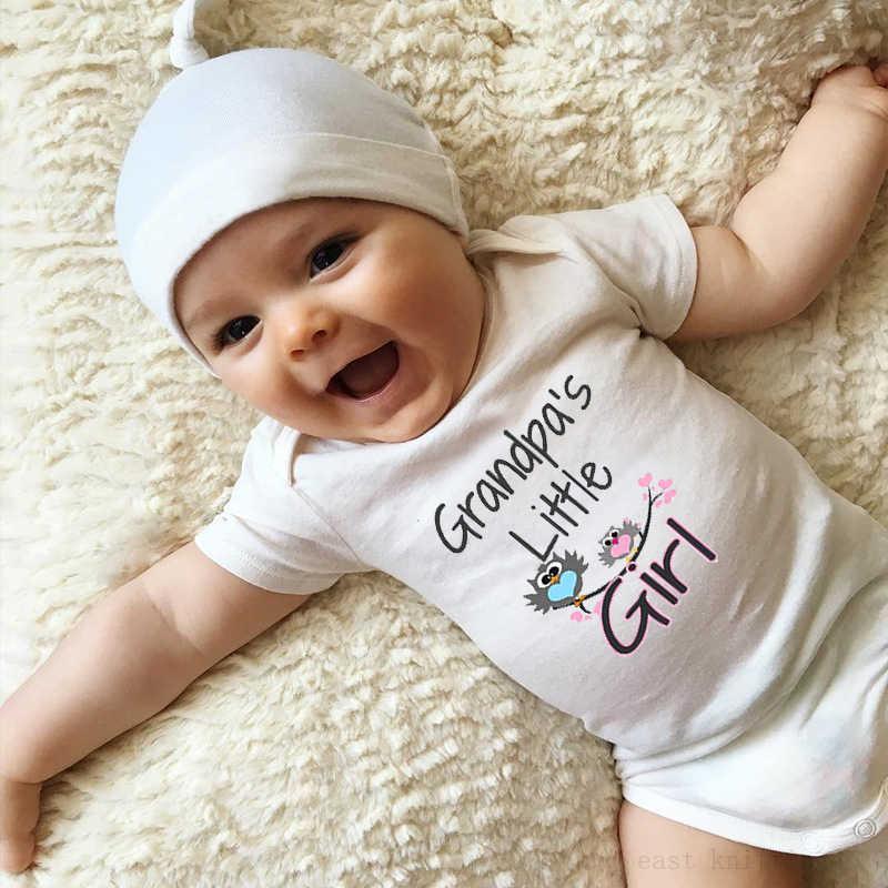 Traje de bebé de la niña de las abuelas del bebé recién nacido niños niñas lindo Onesie ropa regalo de la Ducha del bebé 0-24M