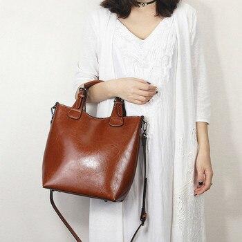 2020 Genuine Leather Hand bag luxury handbags Women bags designer Casual Tote Classic Black Lady Crossbody Messenger sac bolsa
