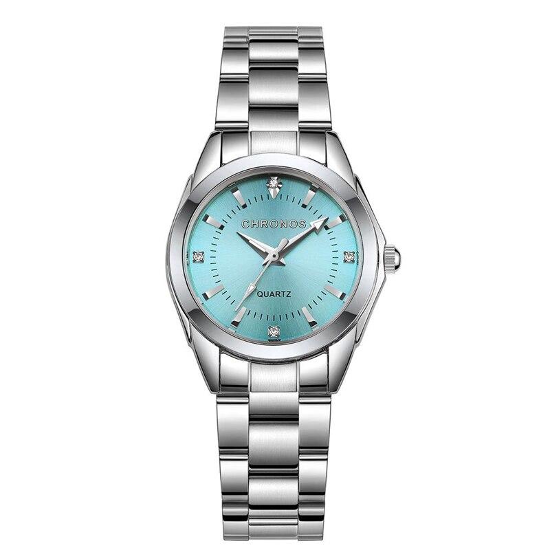 Chronos Women Watches Luxury Stainless Steel Quartz Watch Waterproof Wristwatch Ladies Watches Reloj Mujer