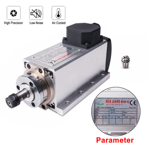 Image 5 - 1.5KW/220V CNC mili 1500W 220V 24000RPM hava soğutmalı mil motoru CNC Motor + 1.5KW invertör + 1 takım er11 kare freze mili