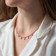 HIYONG Customized Fashion Rose Gold Silver Name Necklace Personalized Letter Gold Choker Necklace Pendant Nameplate Gifts hiyong custom crown name necklace personalized silver rose gold chain nameplate choker christmas gift necklaces jewelry