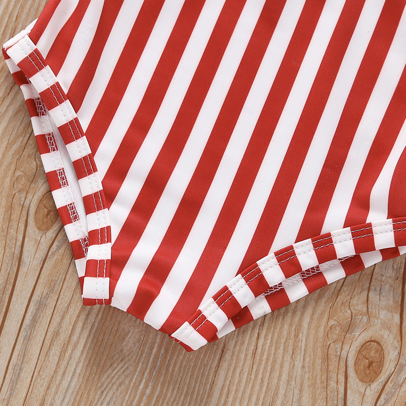 Medium-small Girls Summer Seaside Beach Swimsuit One-piece Swimming Suit Stripes Mesh Skirt AliExpress