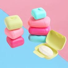 Bathroom soap Dish Plate Mini Home Shower Travel Hiking Portable Soap Box Holder Container porte savon salle de bain Case
