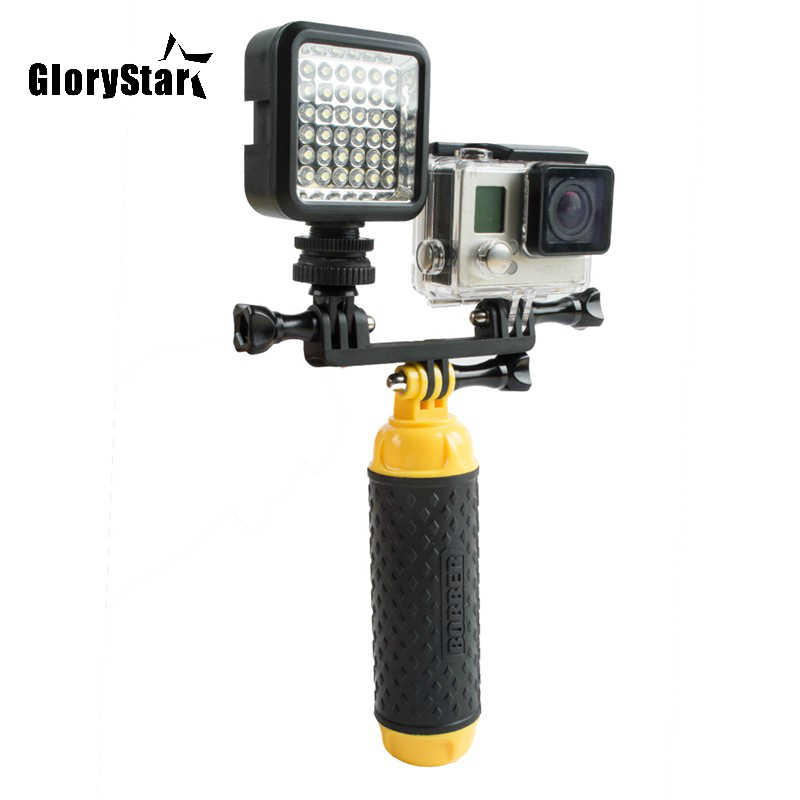 W36 Voor Gopro Zaklamp Lamp Led Flash Video Light Mount Voor Go Pro Hero 8 7 6 5/4/3 sony Xiaomi SJ4000 Sjcam Osmo Wifi Camera