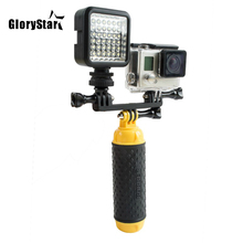 W36 ل GoPro مصباح يدوي LED فلاش الفيديو ضوء جبل ل الذهاب برو بطل 8 7 6 5/4/3 سوني شاومي SJ4000 SJCAM oomo واي فاي كاميرا