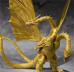 30cm Godzilla: King Of The Monsters King Ghidorah Action Figure Super Movable Joints Three Headed Dragon Pvc Figurine Decoration