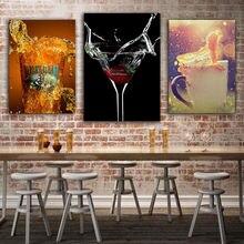 Бар вино винтажные плакаты Кухня Печать поп арт Стена Фотографии