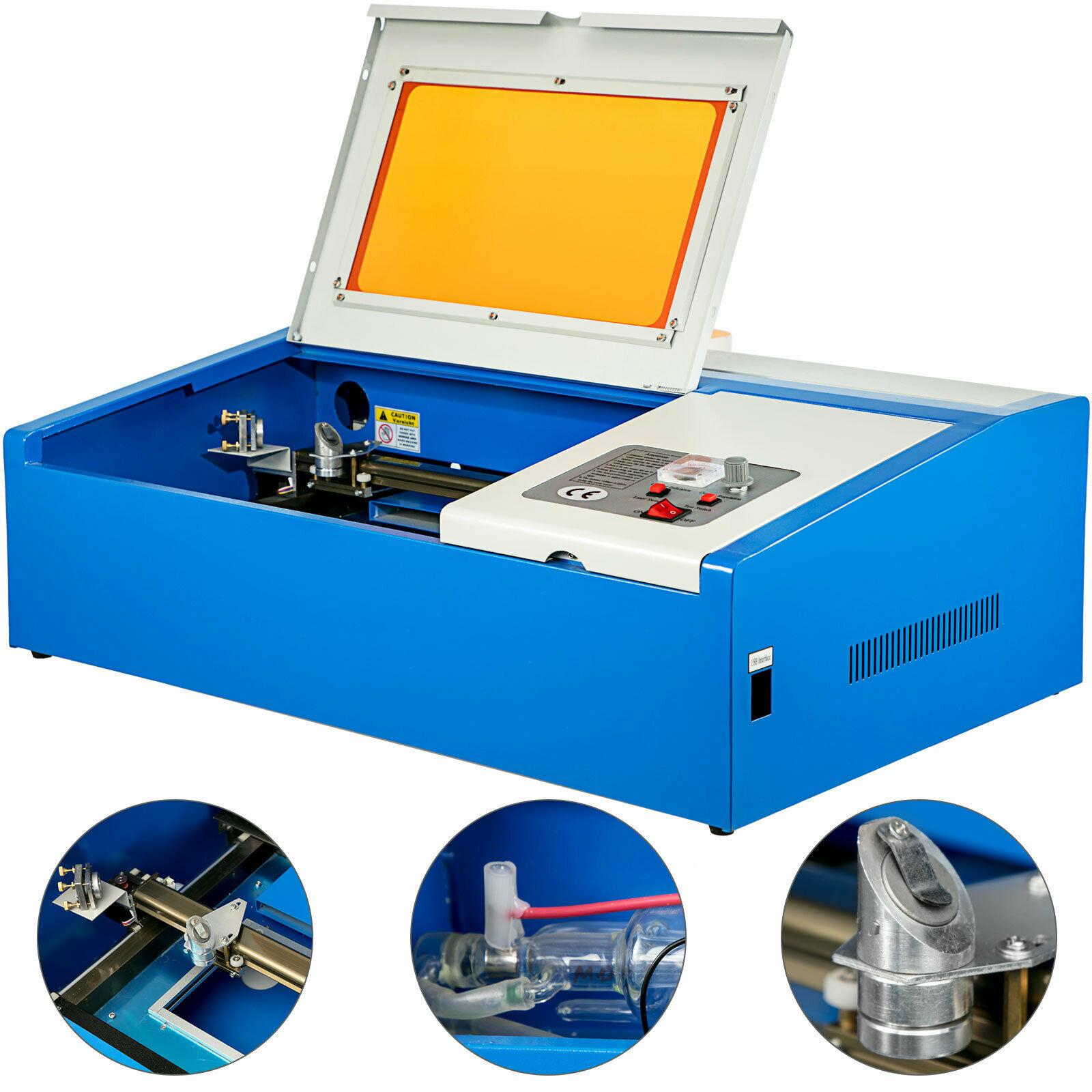 40 Вт CO2 лазерный гравер машина 12*8