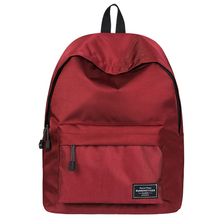Solid Backpack Brand New  Large Capacity Travel Backpack Bags Waterproof High Quality School Bag for Teenage girls 2019 Wine Red women high quality ring backpack college schoolbag travel backpack for teenage girls boys large capacity anello bag