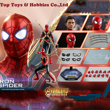 Full Set Hot Toys MMS482 1/6The Avengers 3 Iron Man Spider Figure collection for Fan