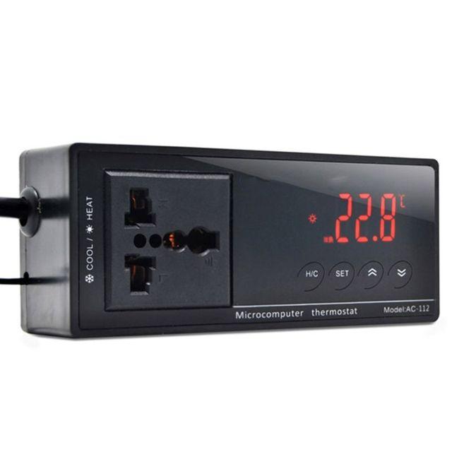 10A AC-112 Thermostat de sortie régulateur de température numérique accessoires de chauffage daquarium avec capteur étanche