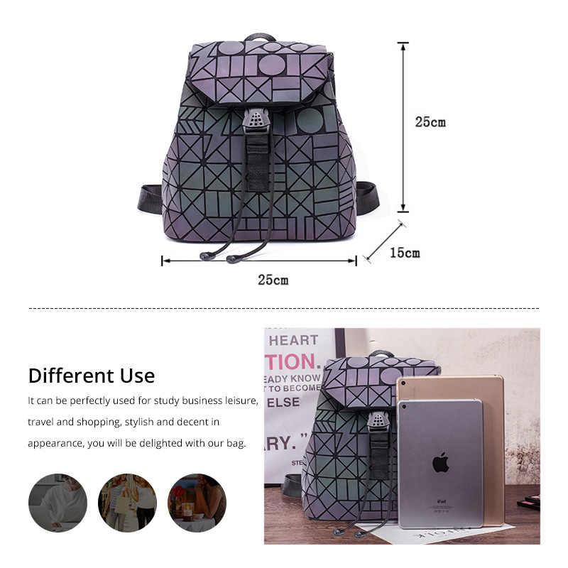 Женский рюкзак LOVEVOOK, школьный портфель небольшой емкости для девочек-подростков, складной геометрический рюкзак для путешествий,  изготовлены из пециальных светоотражающих материалов, 2019